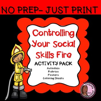 Social Skill Activity Pack- 6 Activities, Posters, Rubrics