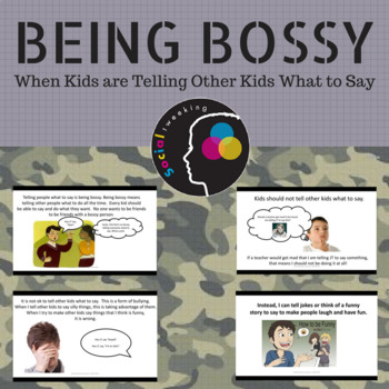 Social Skill; Being Bossy; Telling kids what to say