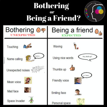 Social Skill: Friendship; Is this bothering or being a friend