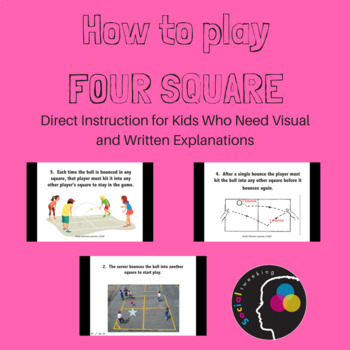 Social Skill; How to play 4 square; recess games