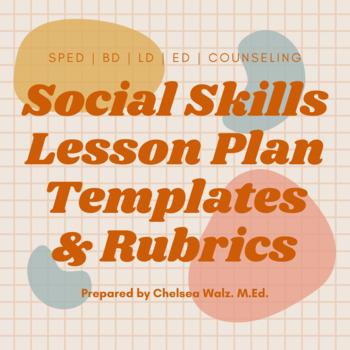 Social Skill Lesson Plan Format