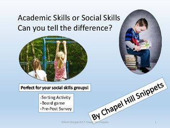 Social Skill or Academic Skill-Sorting Activity + Game for