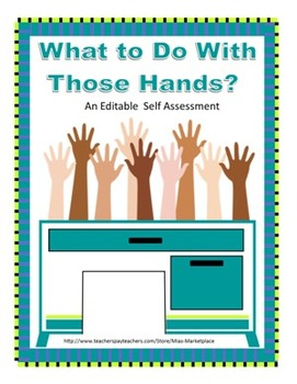 Social Skills Activity: What to Do With Your Hands and Body