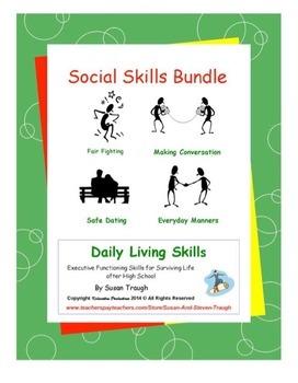 Social Skills Workbooks Bundle Pack-Daily Living Skills