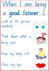 Social Skills Charts
