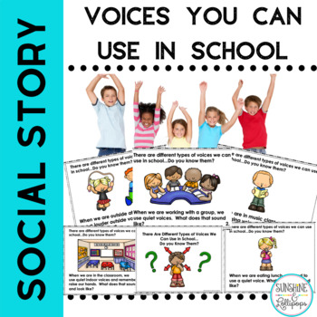 Social Skills Classroom Management Voices We Can use in Sc