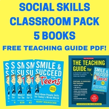 Social Skills Classroom Pack 5 Books: Smile & Succeed for