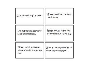 Social Skills Conversation Starters Cards (Autism)