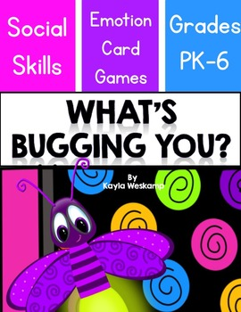 Social Skills Emotion Card Games   What's Bugging You?