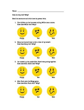 Social Skills:  How Do They Feel?