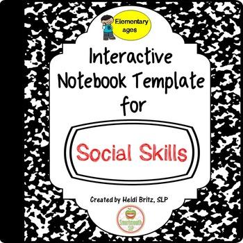 Social Skills Interactive Notebook templates: Elementary