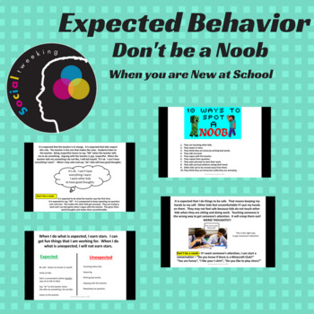 Social Skills; Expected behavior at school; Don't be a noob
