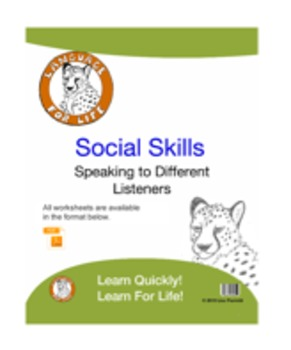 Social Skills: Speaking to Different Listeners