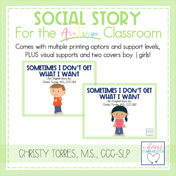 "Positive Behavior Social Story for Autism ""Sometimes I Don"
