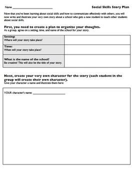 Social Skills Story Plan