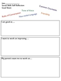 Social Skills Student Reflection and Goal Sheet