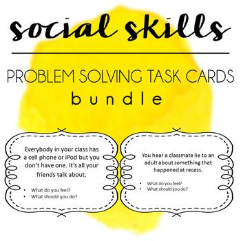 Social Skills Problem Solving Task Cards BUNDLE - Boys Gir