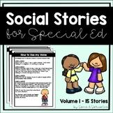 Social Stories Bundle! {15 Social Stories for Students wit