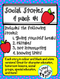 Social Stories - Four Pack #1