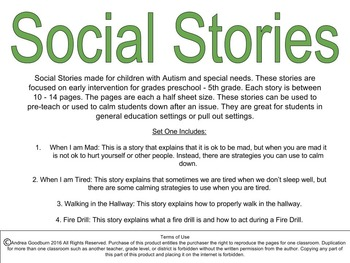 Social Stories for Autism or Special Needs: Fire Drill, Ma