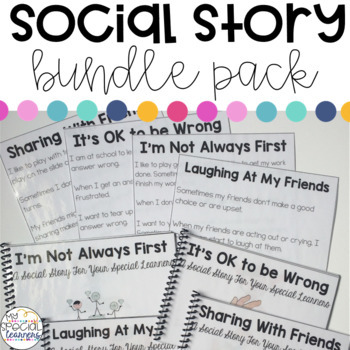 Social Story Bundle Pack for Your Special Learners