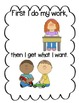 Social Story- First I Do My Work Then I Get What I Want
