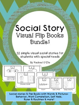Social Story Flip Books! {12 Visual Stories for Students w
