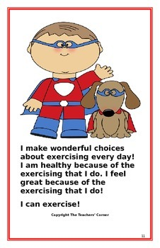 """Social Story- """"I Can Exercise"""""""