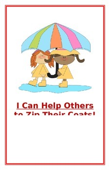 "Social Story- ""I Can Help Others to Zip Their Coats"""