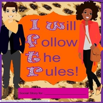 Social Story Life Skills Vocational CBI I Will Follow The