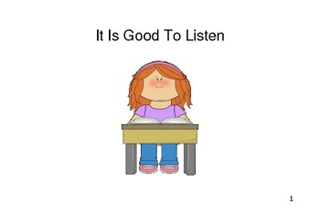 Social Story - It Is Good To Listen