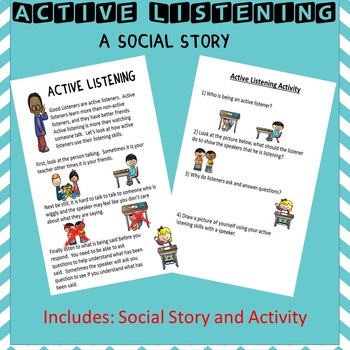 Social Story: Listening (Autism/Behavior)