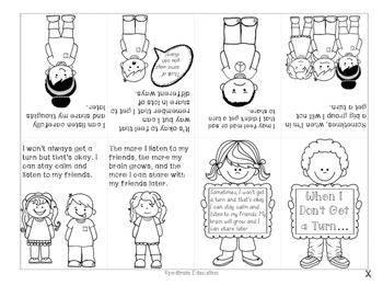 Social Story Mini-Book- When I Don't Get a Turn