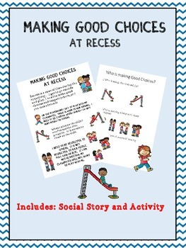 Social Story: Recess (Autism/Behavior)