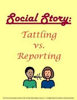 Social Story: Tattling vs Reporting