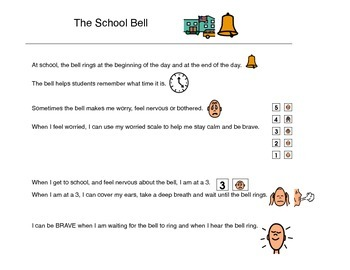Social Story, The School Bell - Autism VISUAL