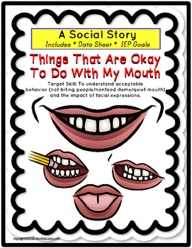 Social Story - Things That Are Okay/Not Okay To Do With My