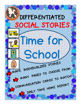 Time for School Social Story for ASD, Non-Verbal, Special