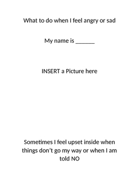 Social Story for What to do when mad template