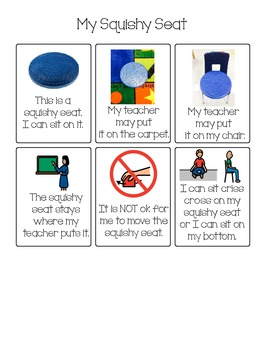 Social Story/Rules for Squishy Seat/Stability Seat for wri