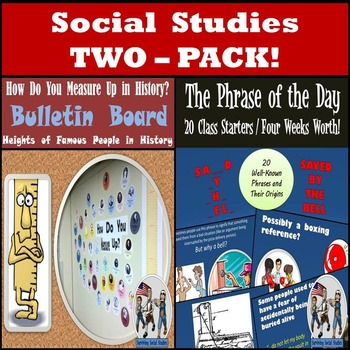 Social Studies 2-Pack : Fun Class Starter & How Do You Mea