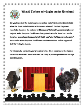 SS / Thanksgiving Activity: What if Turkeys and Eagles ran