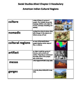 Social Studies Alive! Chapter 3 Glossary and Vocabulary Test