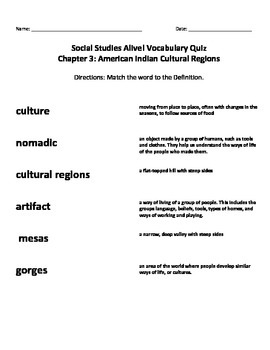Social Studies Alive Chapter 3 Vocabulary QUIZ American In
