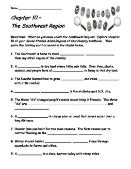 Social Studies Alive! Regions of Our Country Ch. 10 Scaven