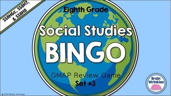 Social Studies BINGO - 8th Grade GMAP Review (Set 3 of 4)
