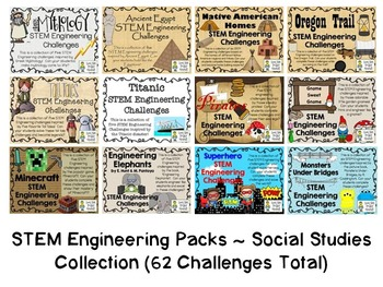 Social Studies Bundle Collection ~ 12 STEM Engineering Pac