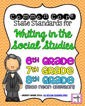 6th, 7th, and 8th grade Writing in Social Studies Common C