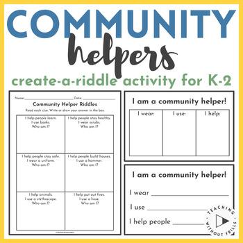 Social Studies- Community Helpers Riddle Activity {Communi