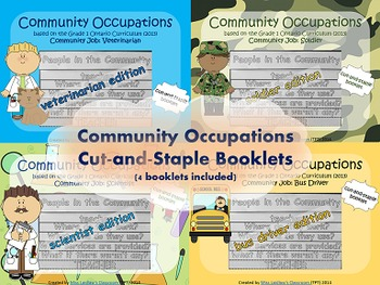 Social Studies: Community Occupations Booklet 4-Pack #2 {O